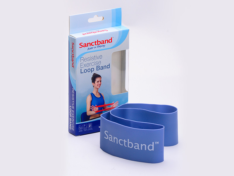 Resistive Exercise Loop Band blue berry color